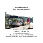 Boat Tours Now Available