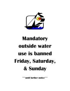 Weekend water ban