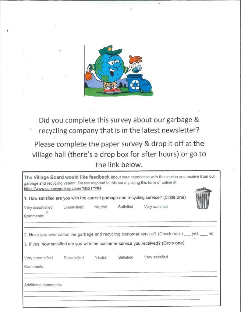 garbage survey