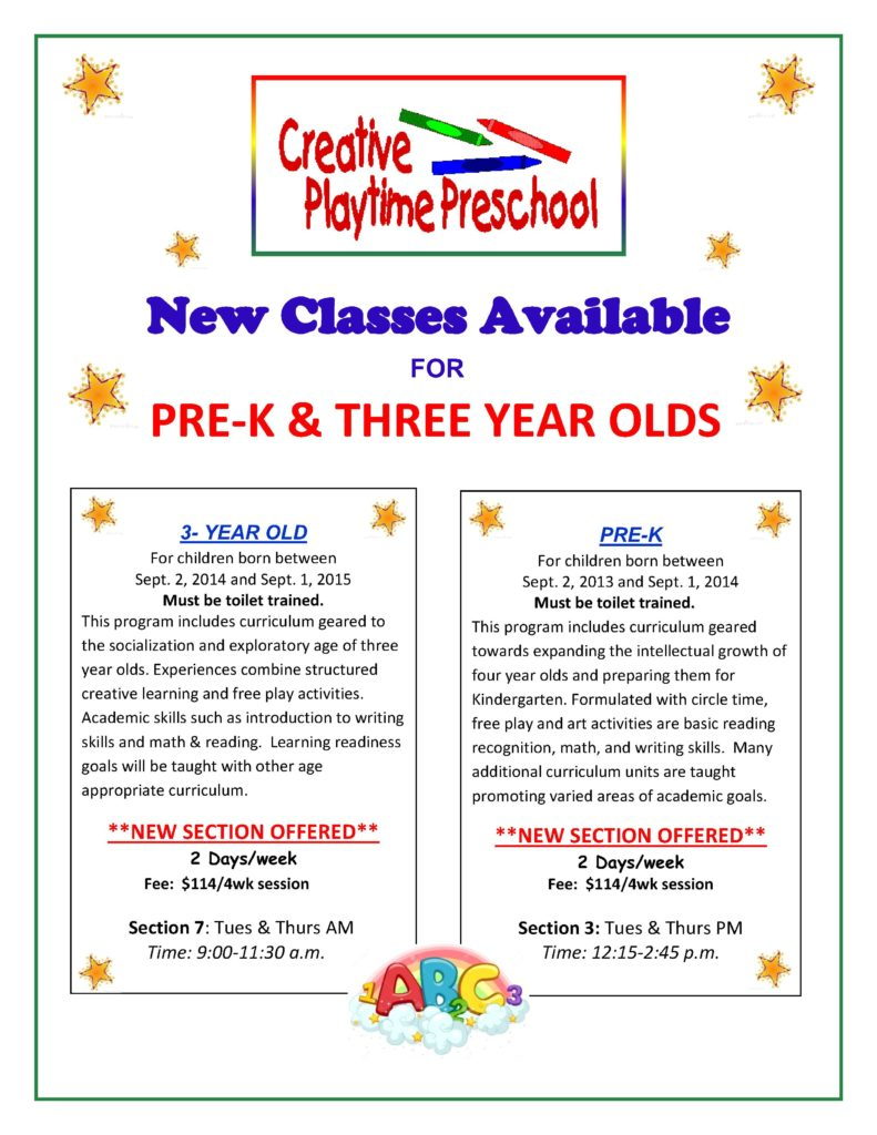New Classes Available Poster
