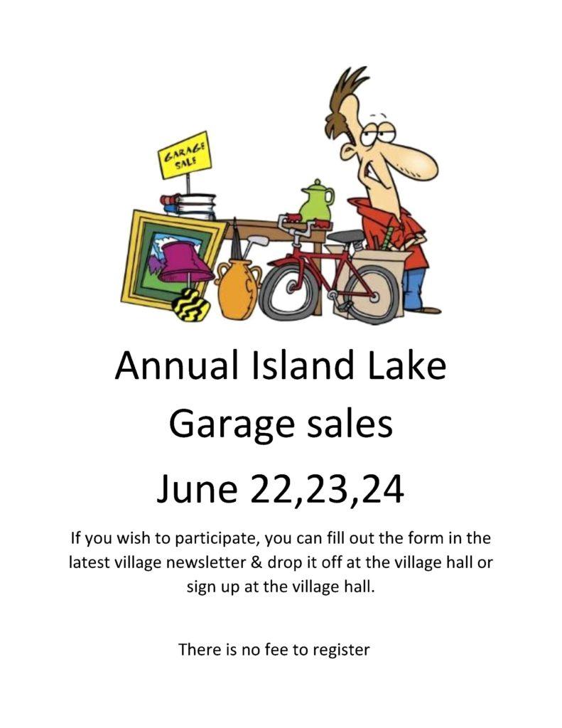 Annual Island Lake Garage sales