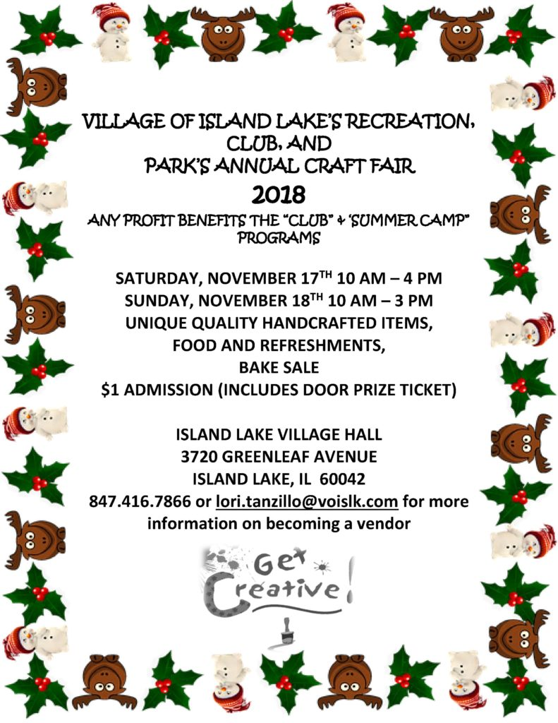 2018 Craft Fair Newsletter Fall and for FB