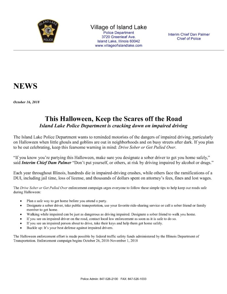 Halloween Campaign letter