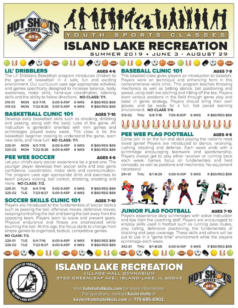 Island Lake 2019 Summer Flyer