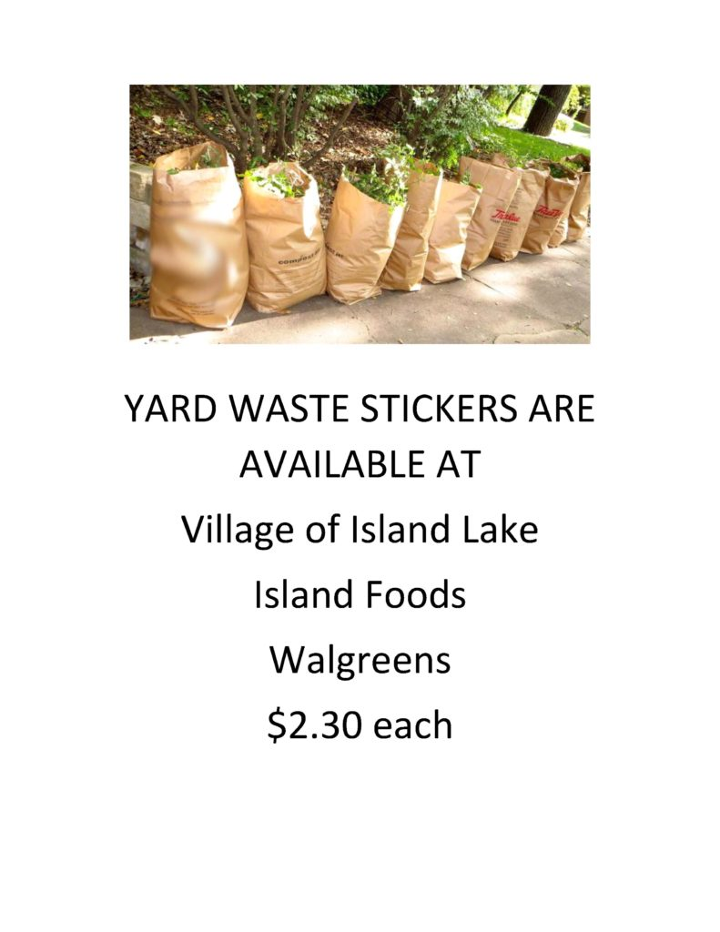 YARD WASTE STICKERS ARE AVAILABLE AT