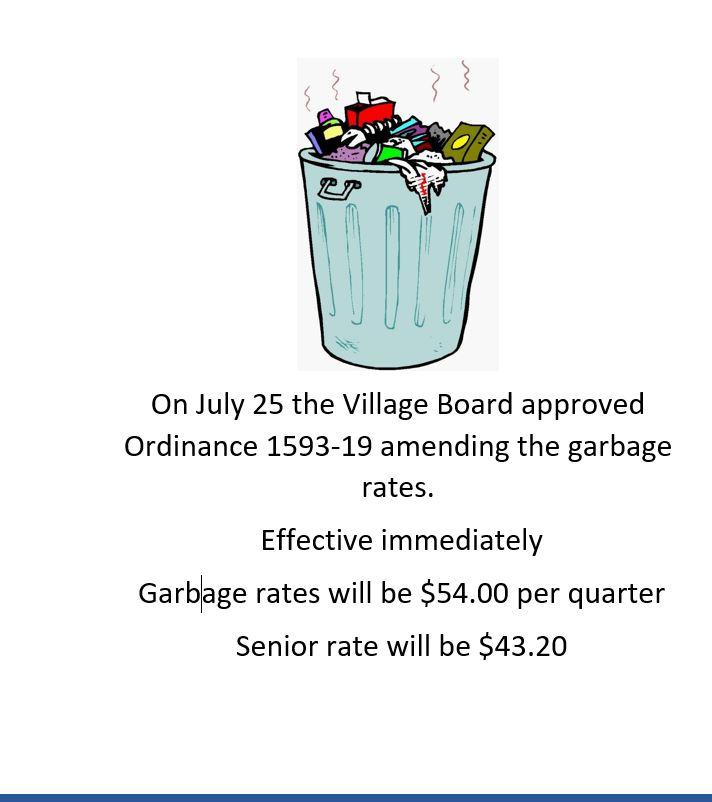 Garbage rates