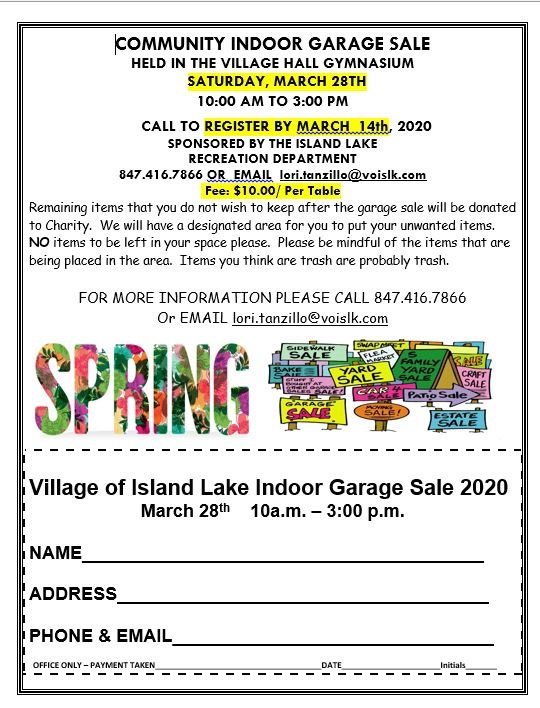 Garage Sale Indoor 2020
