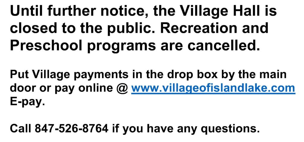 Closed to the Public notice