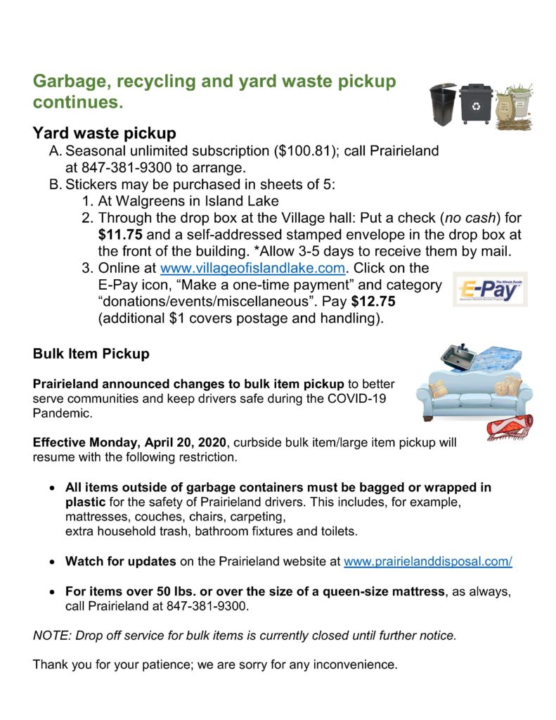 Garbage and recycling 4-17-2020