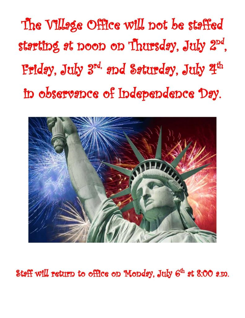 Office closure 4th of July Weekend