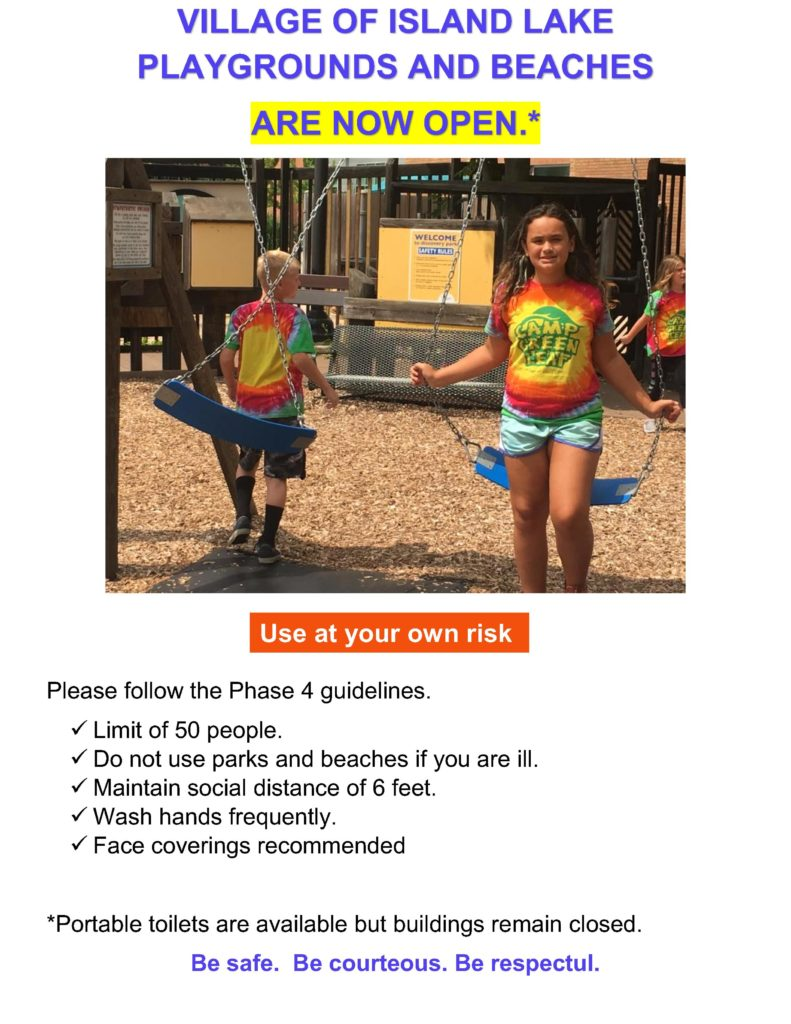 Playgrounds Open 7-10-2020