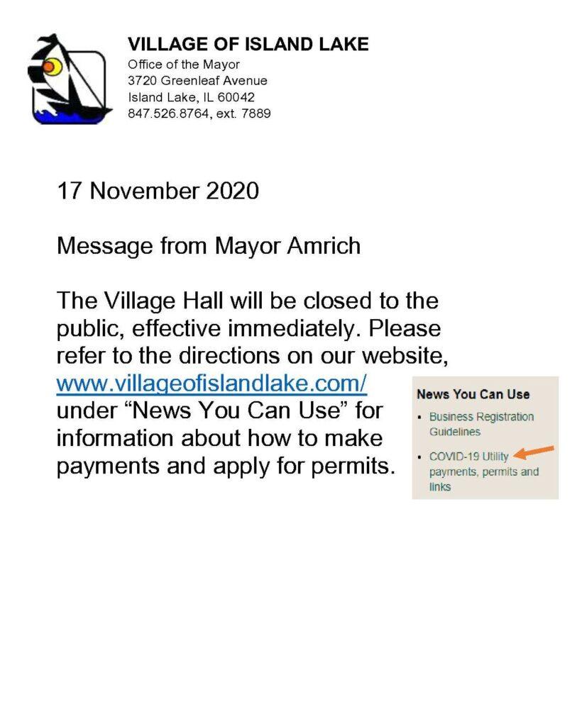 Office Closure 11-17-2020
