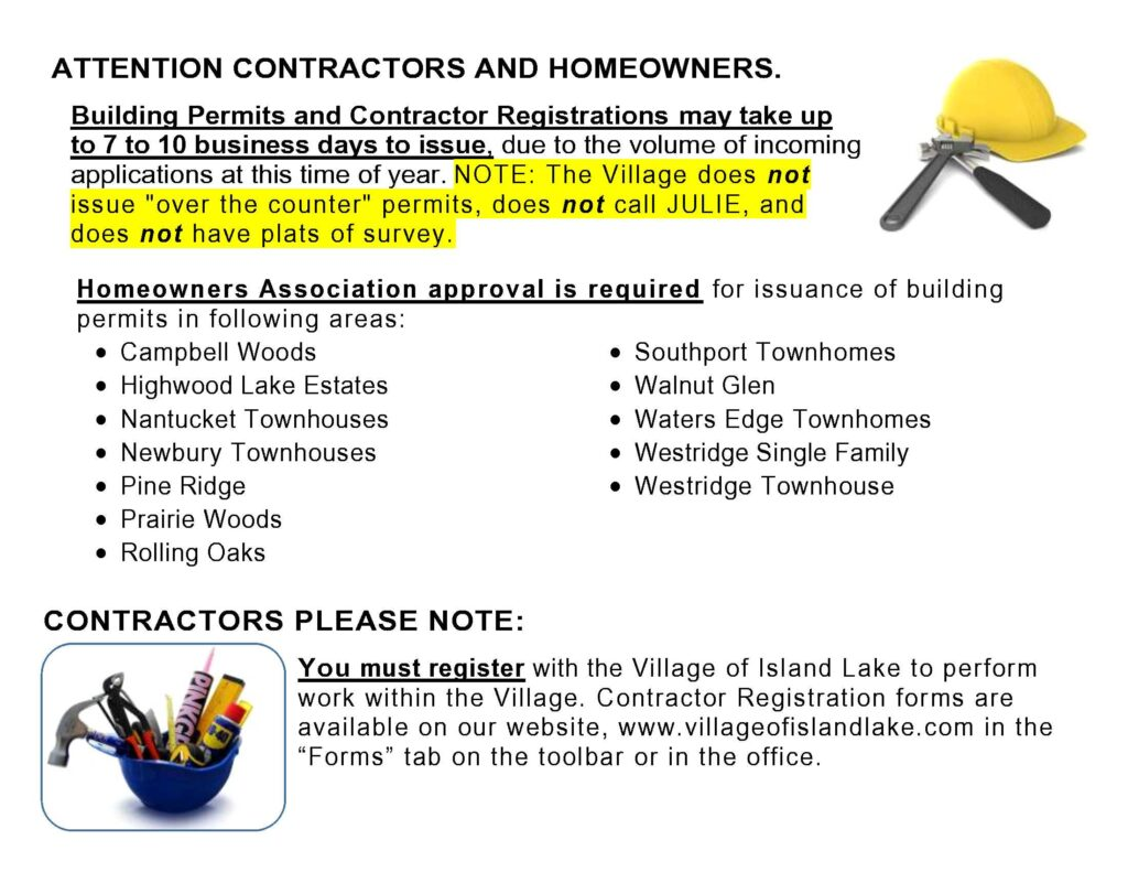 Building Permits and Contractor Reg Sign